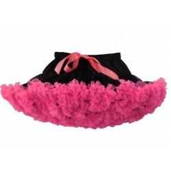 Juodas - rožinis sijonėlis, 21 cm ilgio